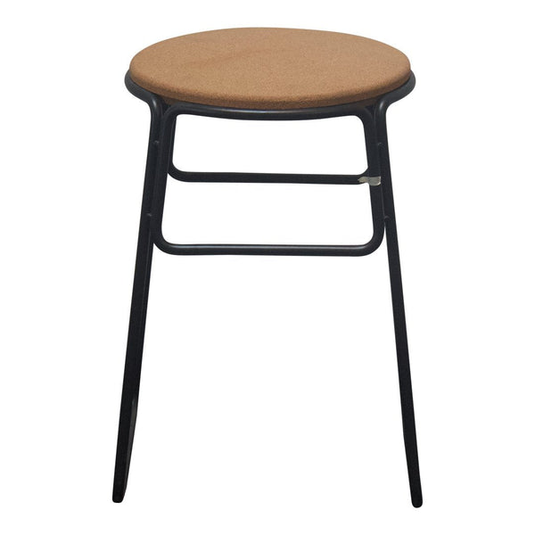 Prop Stool - Low, Cork Top, Black Base - Showroom