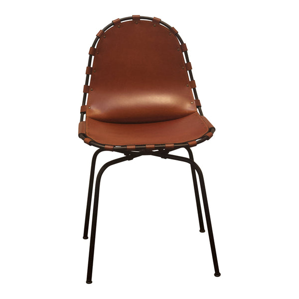 Stretch Chair - Cognac Leather / Black Steel - Outlet