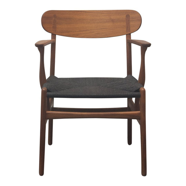 Ch26 Dining Chair - Walnut, Black Papercord Seat - Outlet