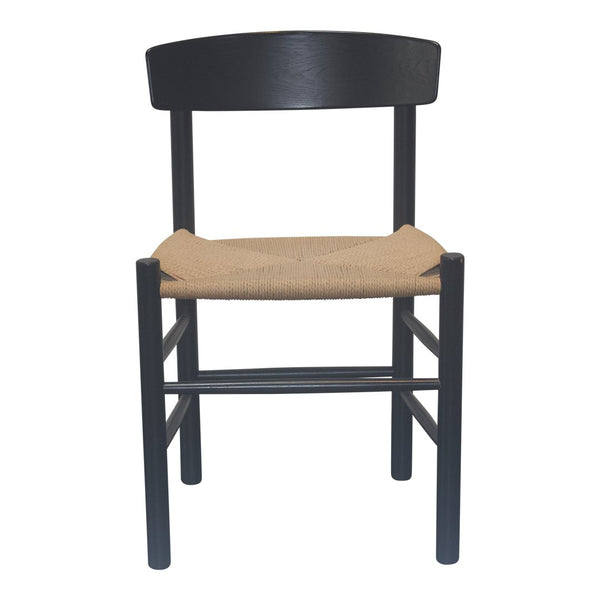 Mogensen J39 Chair - Black, Natural Papercord - Outlet