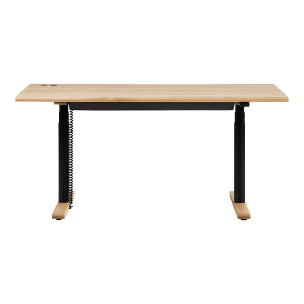 MN100 Height Adjustable Rectangular Desk - Veneer