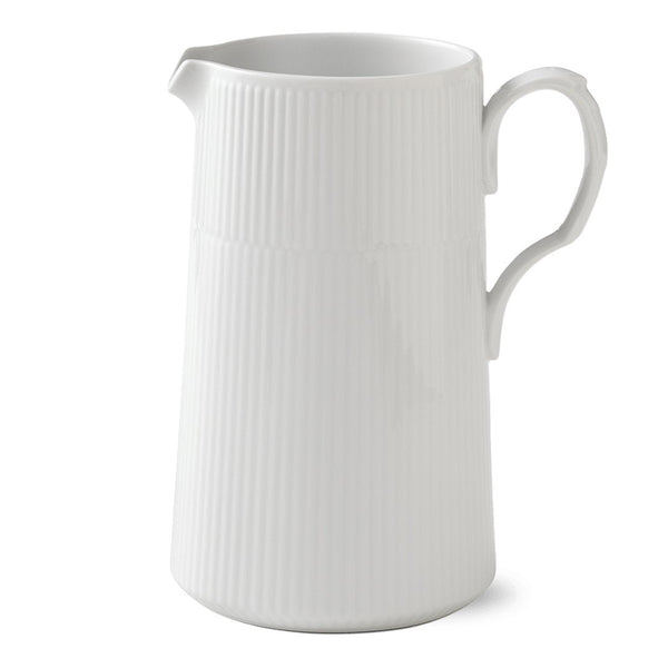 White Fluted Plain Modern Jug