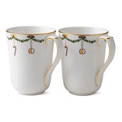 Star Fluted Christmas Cups & Mugs - Set of 2