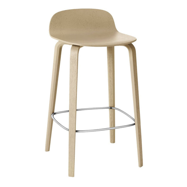 "Visu Counter Stool (25.6"" H) - Wood Base"