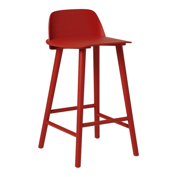 "Nerd Bar & Counter Stool - Dark Red / Counter Height: 25.6"" H / None - Showroom"