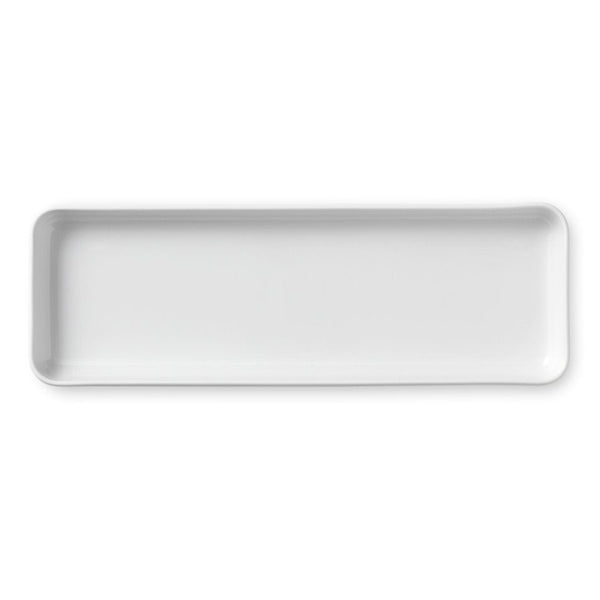 White Fluted Plain Serving Dishes
