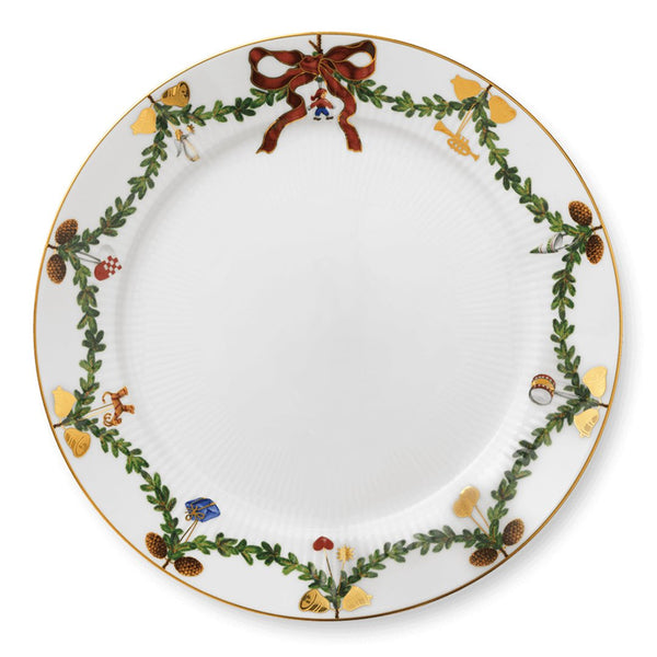 Star Fluted Christmas Plates