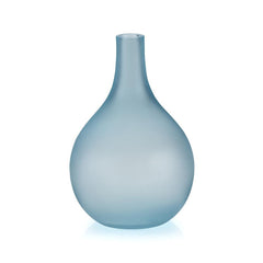 Lucie Kaas Sandblasted Vase - Light Blue, 8.7 h