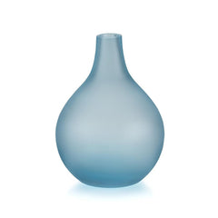Lucie Kaas Sandblasted Vase - Light Blue, 6.7 h