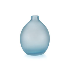 Lucie Kaas Sandblasted Vase - Light Blue, 5.1 h