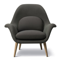 Swoon Chair - Haakon 2374, Oak Black Lacquer Legs - Outlet