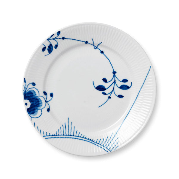 Blue Fluted Mega Salad Plates