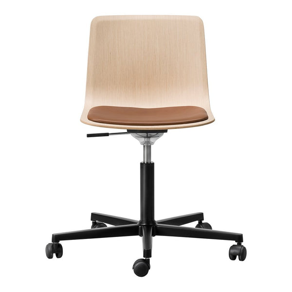 Pato Veneer Office Chair - Seat Upholstered