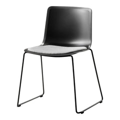Pato Chair - Sledge Base, Seat Upholstered