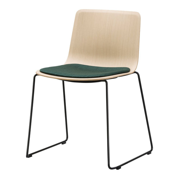 Pato Veneer Chair - Sledge Base, Seat Upholstered