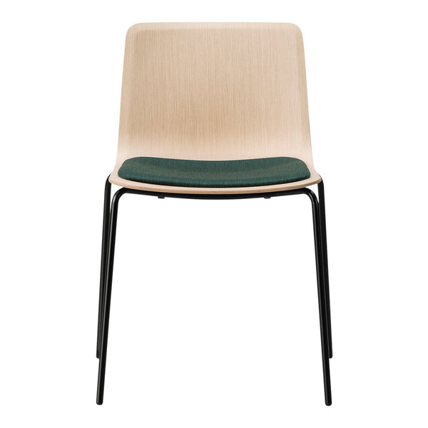 Pato Veneer Chair - 4 Legs, Seat Upholstered