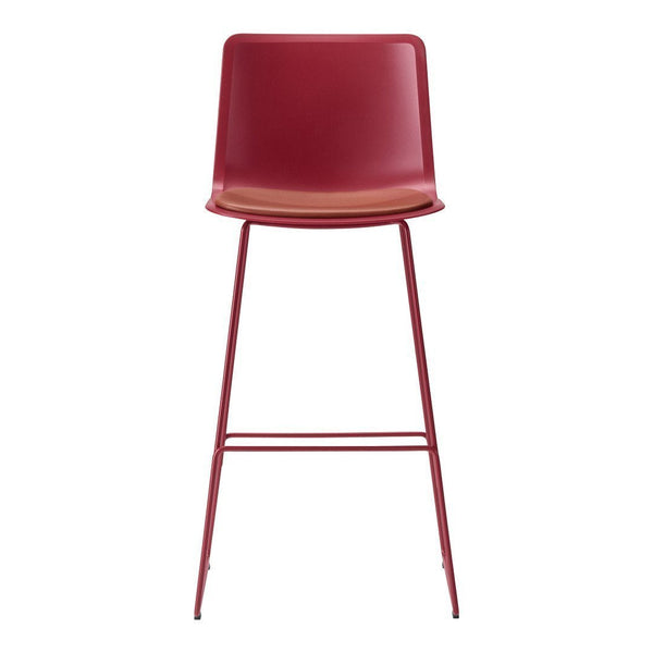 Pato Bar/Counter Stool - Sledge Base, Seat Upholstered
