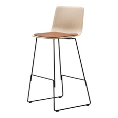 Pato Veneer Barstool - Sledge Base, Seat Upholstered - Bar Height
