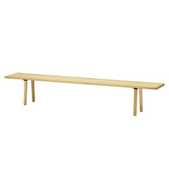 Vitra Wood Bench - Natural Oak, 102.25 l