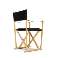Mogens Koch Folding Chair - Oiled Mahogany / Black Leather - Thor 301 - Outlet
