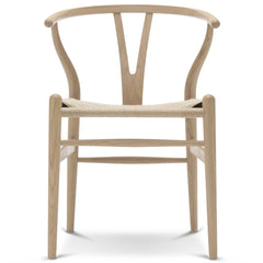 Wegner CH24 Wishbone Chair - Oak - White Oil / Natural Seat - Outlet