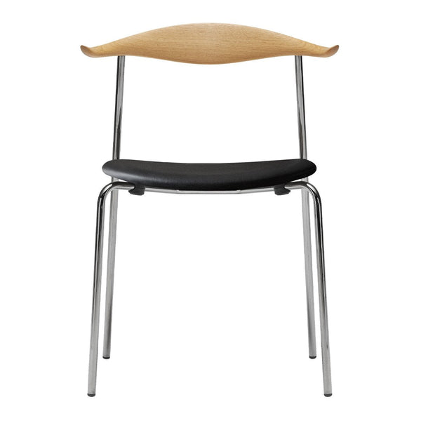 CH88P Chair - Seat Upholstered - Chrome - Wood