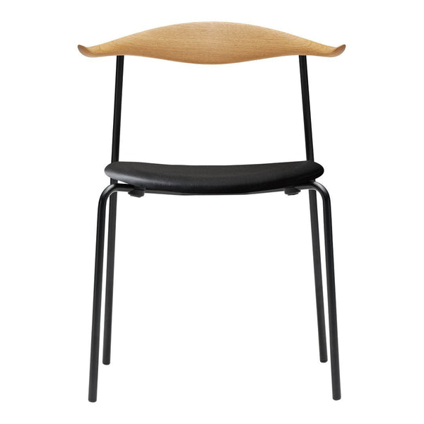 Wegner CH88P Chair - Seat Upholstered - Powder-Coat - Wood