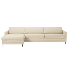 Cooper 4 Seater Sofa with Chaise Longue and Low Cushions