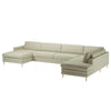 Cooper 7 Seater Sofa with Chaise Longue, Open End and Low Cushions