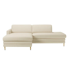 Cooper Chaise Longue w/ Open End and Low Cushions