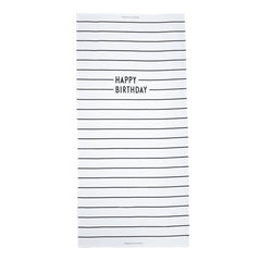 AJ Vintage ABC Happy Birthday Tablecloth