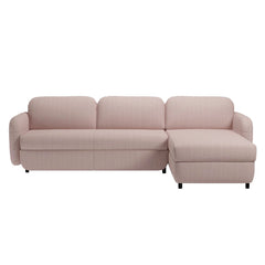 Fluffy 3 Seater Sofa Bed with Chaise Longue