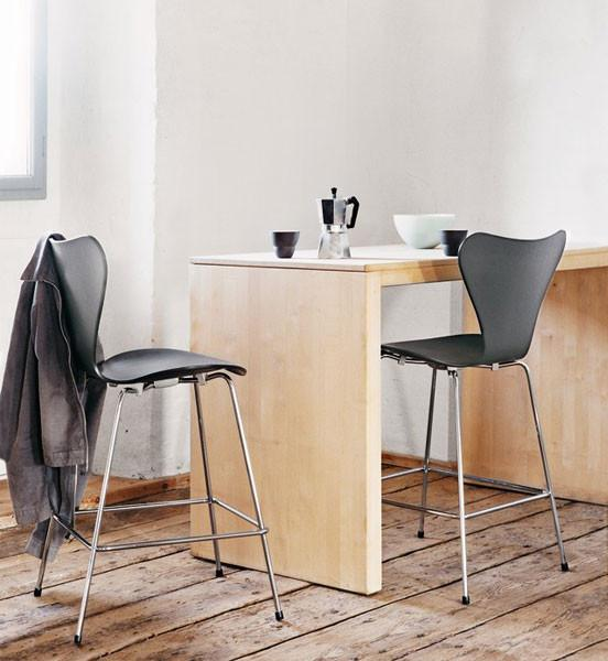 fritz hansen jacobsen series 7 barstool colored ash by arne jacobsen danish design store. Black Bedroom Furniture Sets. Home Design Ideas