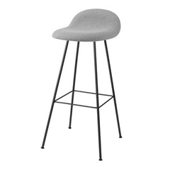 Gubi 3D Bar/Counter Stool - Center Base - Front Upholstered