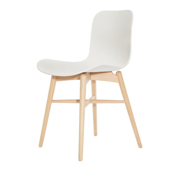 norr11 langue original dining chair wood legs plastic seat by