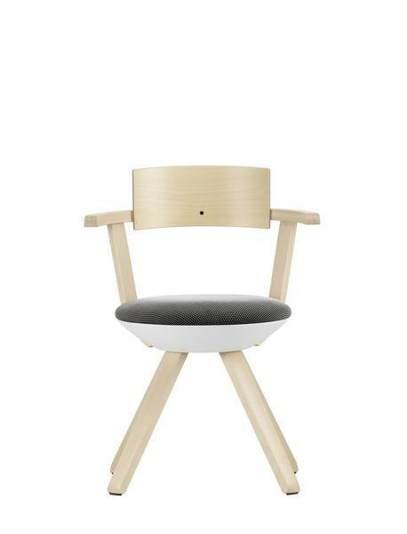Outlet - KG002 Rival Chair - Black/White / Birch - Outlet