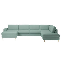 Scandinavia 5 Seater Corner Sofa with Open End and Chaise Longue