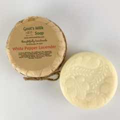 White Pepper Lavender Goat's Milk Soap