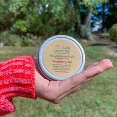 Raspberry Ale Solid Lotion Bar