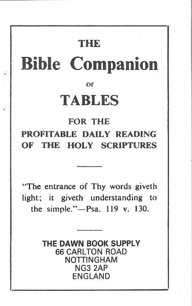 Bible Companion - Booklet