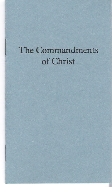 The Commandments of Christ