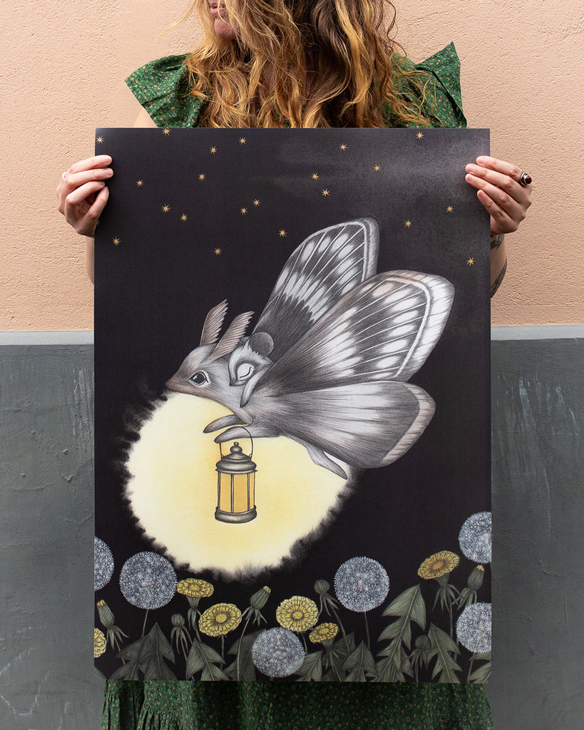 Dandelion Child Large Art Print Kajsa Wallin