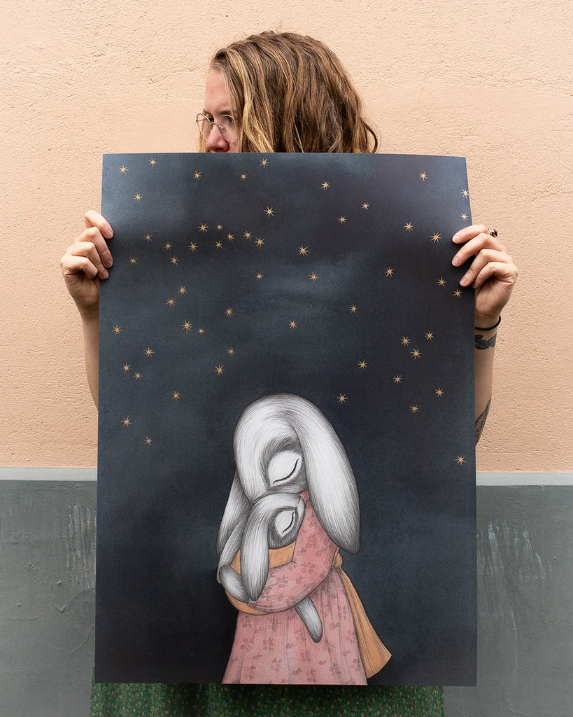 Night Sky Large Art Print Kajsa Wallin