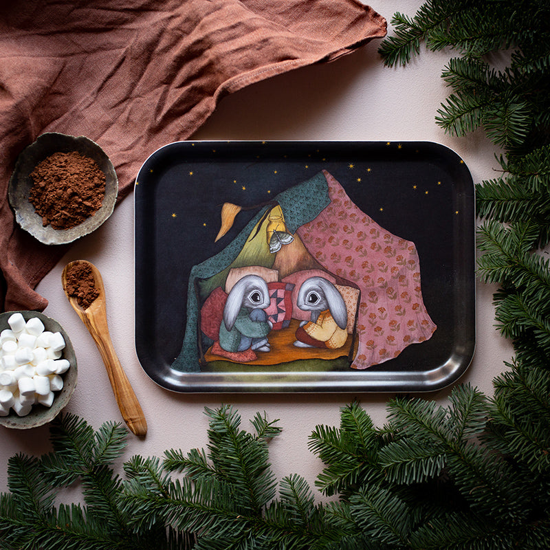 A CAMPING ADVENTURE, Tray