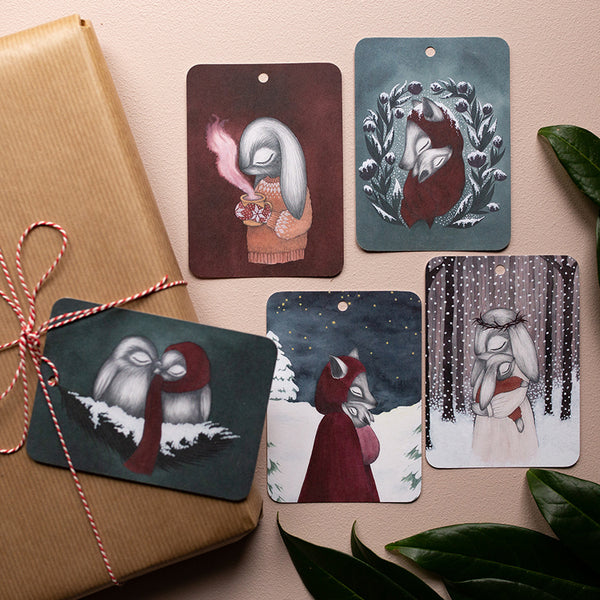 WINTER GIFT TAGS, Set of 5