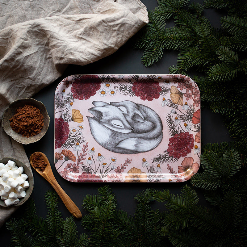 FLORAL FOXES, Tray