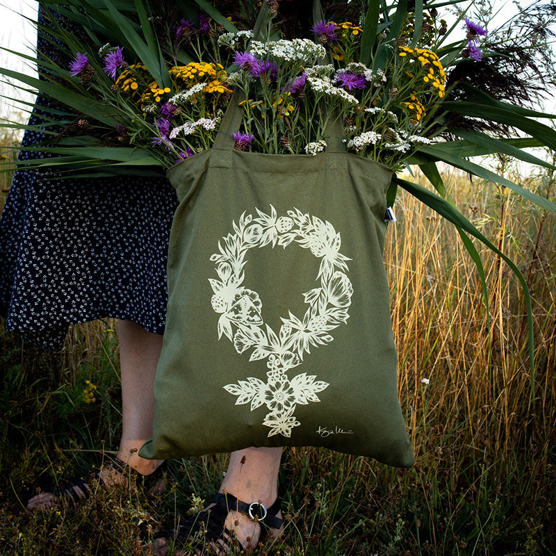 GREEN FEMINIST, tote