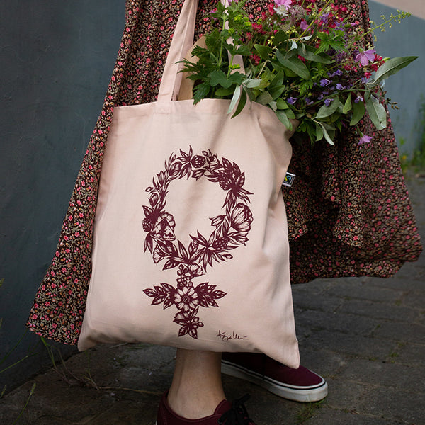 FLORAL FEMINIST, tote