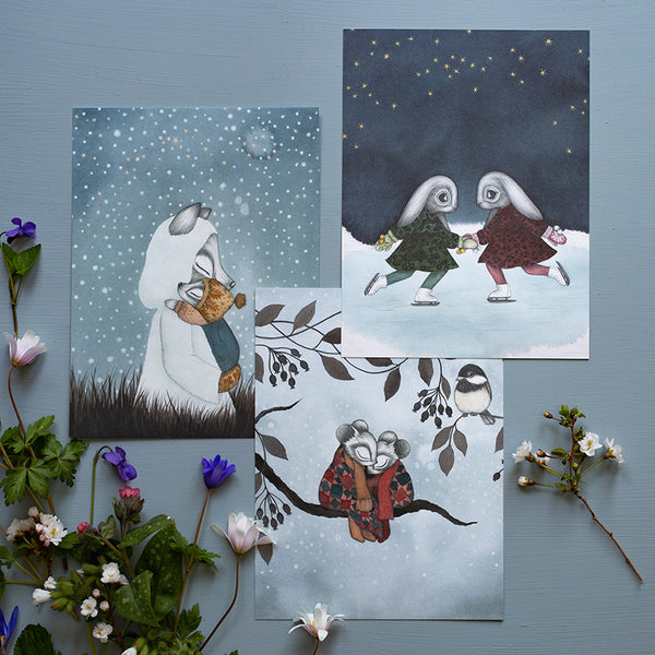 SNOWY LOVE, Set of 3