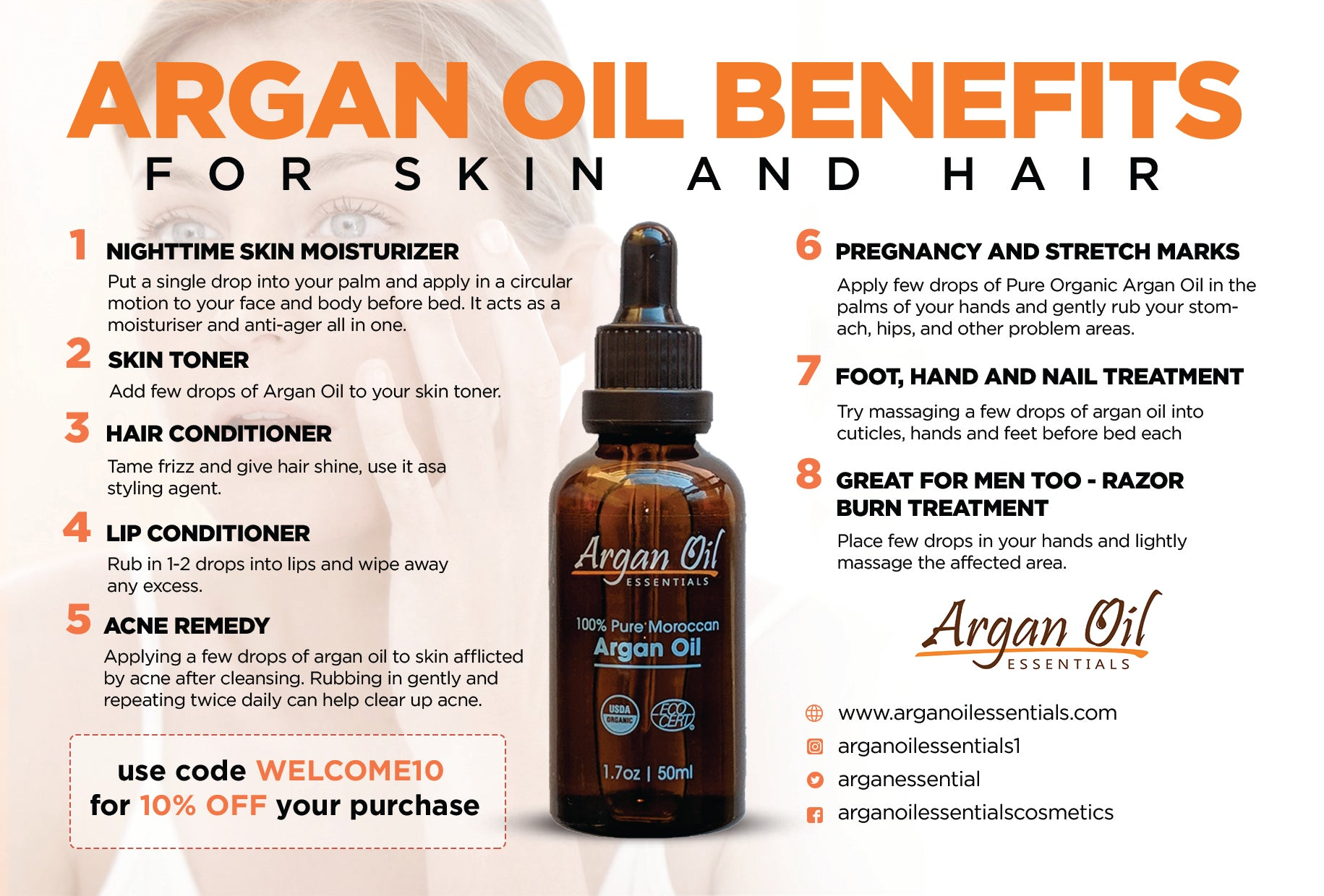 Argan Oil Benefits: Top 10 Argan Oil Benefits for Skin & Hair